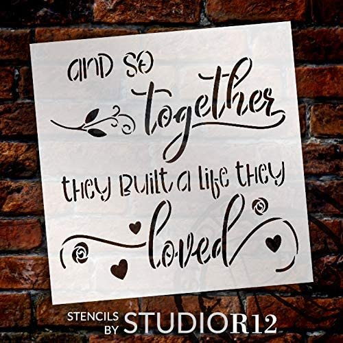 Christian,   			                 Country,   			                 Farmhouse,   			                 heart,   			                 Home,   			                 Home Decor,   			                 Inspiration,   			                 Inspirational Quotes,   			                 leaves,   			                 love,   			                 marriage,   			                 ribbon,   			                 rose,   			                 Sayings,   			                 script,   			                 square,   			                 stencil,   			                 Stencils,   			                 Studio R 12,   			                 StudioR12,   			                 StudioR12 Stencil,   			                 together,   			                 vine,   			                 wedding,