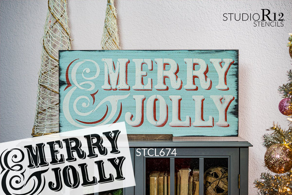 ampersand,   			                 Christmas,   			                 Christmas & Winter,   			                 Holiday,   			                 Jolly,   			                 merry,   			                 stencil,   			                 Stencils,   			                 StudioR12,