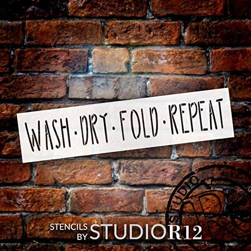 cleaning,   			                 dry,   			                 Farmhouse,   			                 fold,   			                 Home,   			                 Home Decor,   			                 horizontal,   			                 laundry,   			                 long,   			                 rustic,   			                 Sayings,   			                 simple,   			                 stencil,   			                 Stencils,   			                 Studio R 12,   			                 StudioR12,   			                 StudioR12 Stencil,   			                 uppercase,   			                 wash,