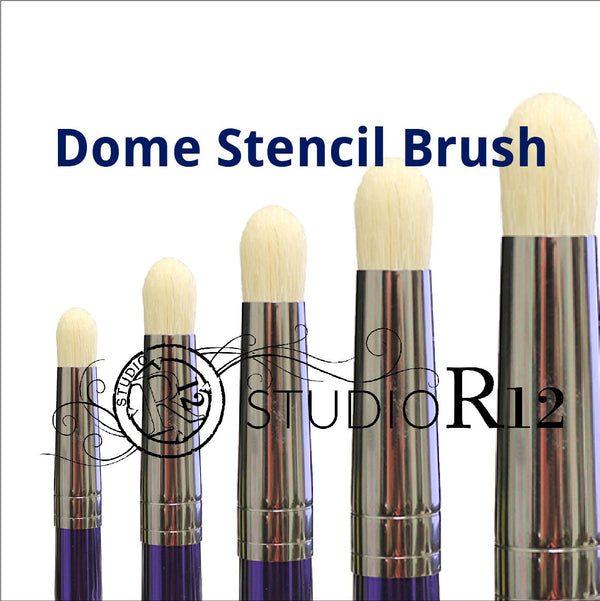 Dome Stencil Brush | Scumble | Swirl | Stipple | Dry Brush | Prevent Bleeding | DIY Crafting & Painting Tools | Select Size