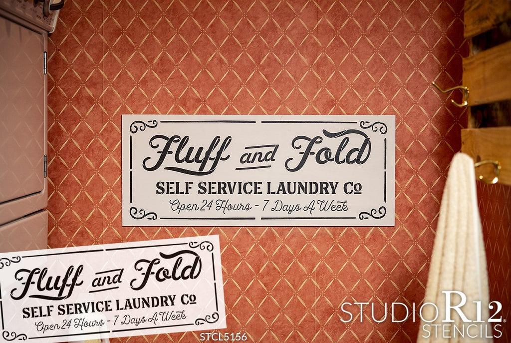 antique,   			                 Country,   			                 dryer,   			                 Farmhouse,   			                 fluff,   			                 fold,   			                 funny,   			                 Home,   			                 Home Decor,   			                 laundry,   			                 nostalgic,   			                 quirky,   			                 stencil,   			                 Stencils,   			                 Studio R12,   			                 StudioR12,   			                 washer,