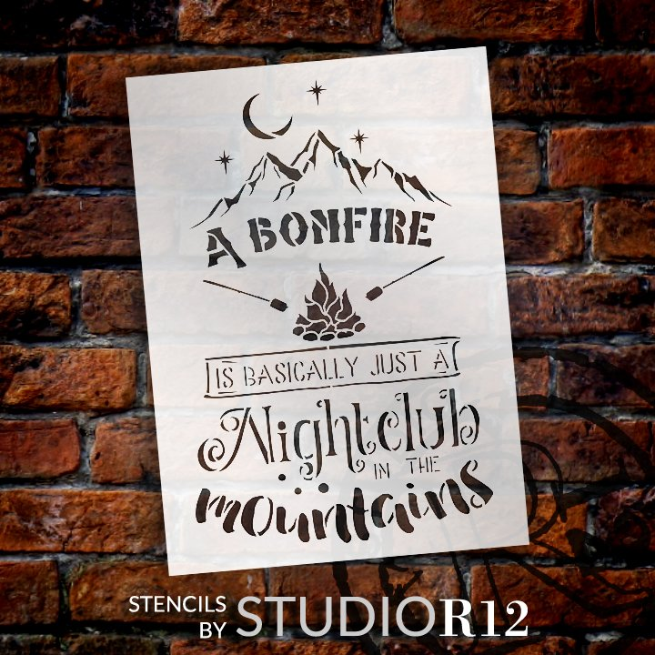 Adventure,   			                 Bonfire,   			                 Camp,   			                 camp fire,   			                 camper,   			                 campfire,   			                 campground,   			                 Camping,   			                 Campsite,   			                 club,   			                 Country,   			                 diy,   			                 diy decor,   			                 diy home decor,   			                 diy sign,   			                 Farmhouse,   			                 Fire,   			                 fire pit,   			                 Firepit,   			                 Home Decor,   			                 Moon,   			                 mountain,   			                 mountains,   			                 night,   			                 Nightclub,   			                 Outdoor,   			                 Star,   			                 Stars,   			                 stencil,   			                 Stencils,   			                 Studio R12,   			                 StudioR12,   			                 StudioR12 Stencil,   			                 Template,   			                 Travel,
