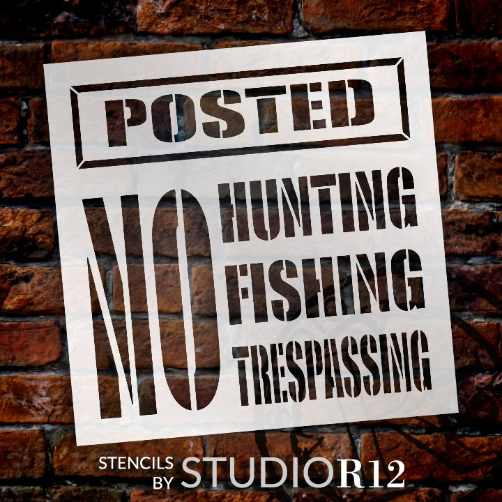 Craft,   			                 DIY,   			                 Flexible Mylar,   			                 Home Decor,   			                 Hunters,   			                 Outoors,   			                 Paint,   			                 Reusable Template,   			                 Stencil,   			                 StudioR12,   			                 Wood,   			                 Wood Sign,