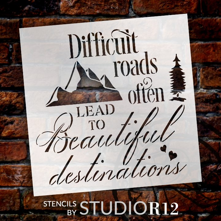 Craft,   			                 DIY,   			                 Faith,   			                 Home Decor,   			                 Journey,   			                 Outdoors,   			                 Paint,   			                 Reusable Template,   			                 Stencil,   			                 StudioR12,   			                 Wood Sign,