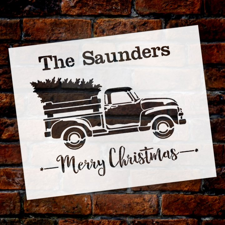 antique Truck,   			                 Christmas,   			                 Christmas & Winter,   			                 Christmas Trees,   			                 Country,   			                 custom,   			                 Farmhouse,   			                 fir tree,   			                 Holiday,   			                 Home Decor,   			                 merry,   			                 Merry Christmas,   			                 old truck,   			                 Personalized,   			                 stencil,   			                 Stencils,   			                 StudioR12,   			                 StudioR12 Stencil,   			                 Template,   			                 tree,   			                 truck,   			                 Vintage,   			                 vintage truck,