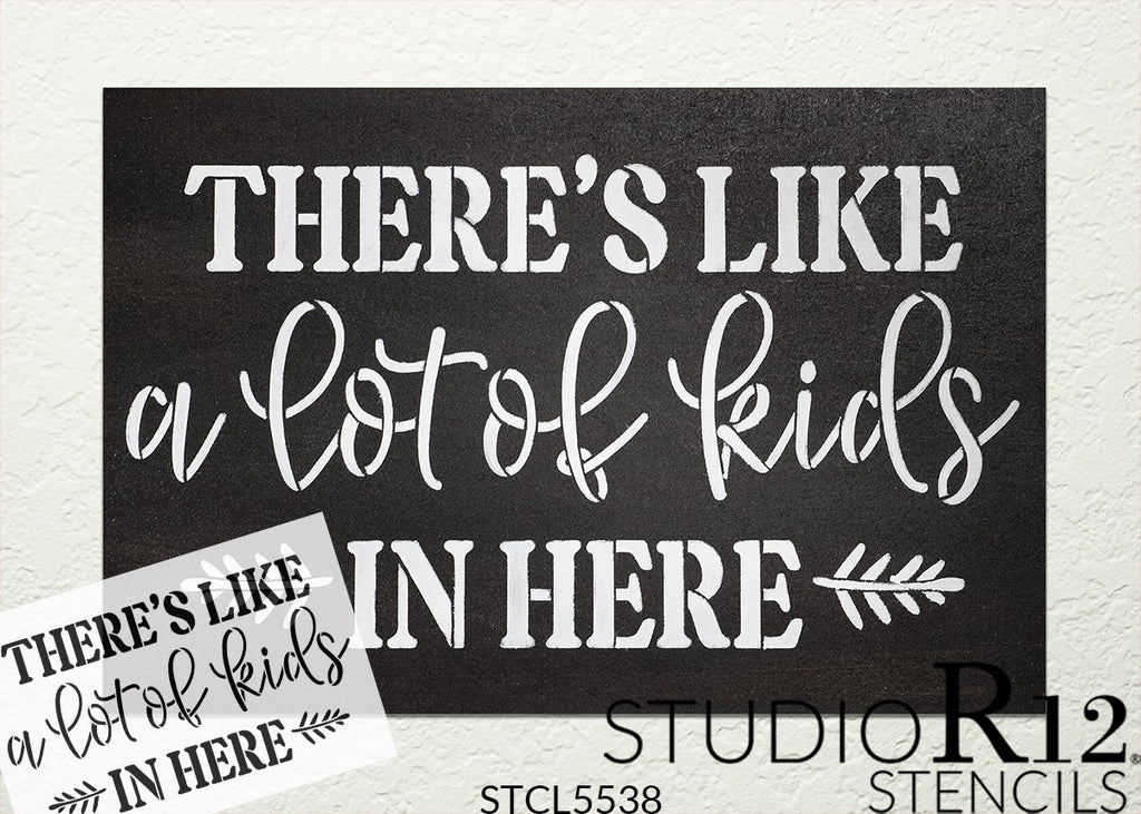 Child,   			                 Children,   			                 Cursive,   			                 cursive script,   			                 door mat,   			                 doormat,   			                 Family,   			                 Fun,   			                 funny,   			                 Home,   			                 Home Decor,   			                 kid,   			                 kids,   			                 script,   			                 stencil,   			                 Stencils,   			                 StudioR12,   			                 StudioR12 Stencil,