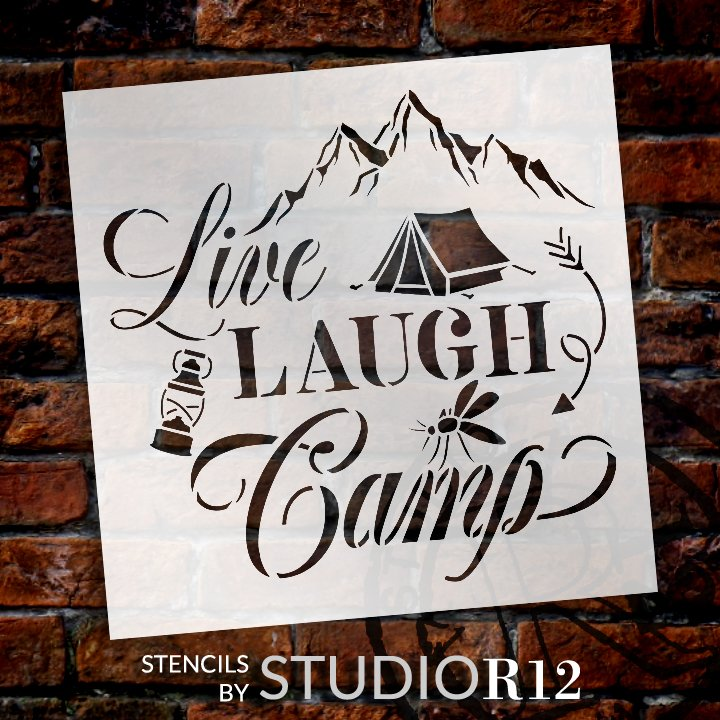 Camping,   			                 Craft,   			                 DIY,   			                 Flexible Mylar,   			                 Home Decor,   			                 Inspiration,   			                 Mountains,   			                 Outdoors,   			                 Paint,   			                 Recreational,   			                 Reusable Template,   			                 Stencil,   			                 StudioR12,   			                 Wood Sign,