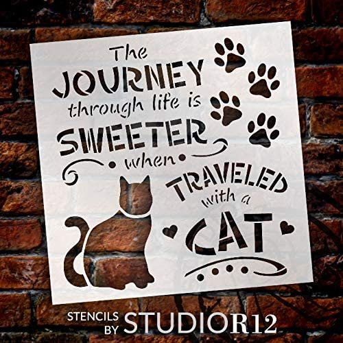Adventure,   			                 Animal,   			                 animals,   			                 Art Stencil,   			                 Art Stencils,   			                 cat,   			                 Cats,   			                 cute,   			                 Farmhouse,   			                 heart,   			                 Home Decor,   			                 house,   			                 journey,   			                 kitten,   			                 life,   			                 love,   			                 Mixed Media,   			                 New Product,   			                 paw,   			                 pawprint,   			                 pet,   			                 positive,   			                 quote,   			                 Quotes,   			                 Sign,   			                 Stencils,   			                 Studio R 12,   			                 StudioR12,   			                 StudioR12 Stencil,   			                 sweet,   			                 Template,   			                 travel,   			                 wood sign,   			                 wood sign stencil,