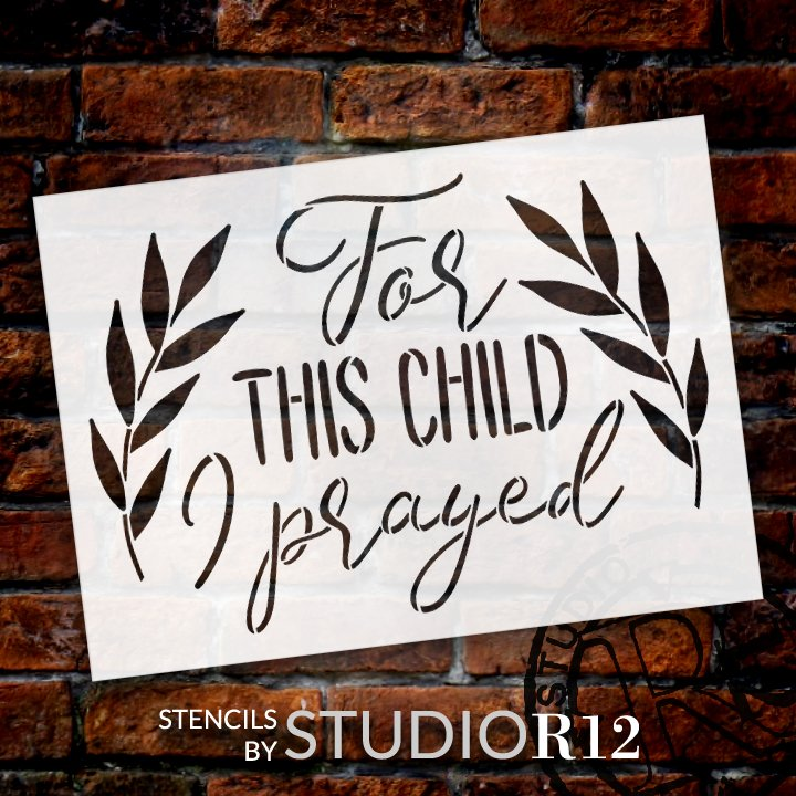 adoption,   			                 Art Stencils,   			                 Baby,   			                 Bed,   			                 Child,   			                 Children,   			                 Christian,   			                 Home,   			                 Home Decor,   			                 stencil,   			                 Stencils,   			                 Studio R 12,   			                 StudioR12,   			                 StudioR12 Stencil,