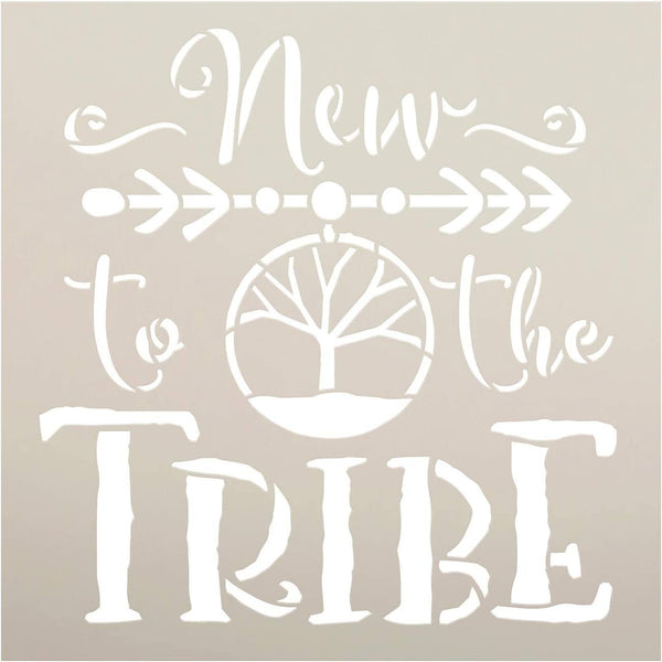 New to The Tribe Stencil by StudioR12 | DIY Boho Tribal Family Home Decor | Craft & Paint Wood Sign | Reusable Mylar Template | Bohemian Tree Dream Catcher Gift | Select Size