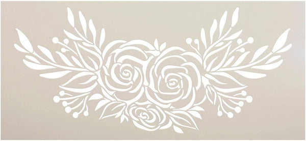 Rose Bouquet Stencil by StudioR12 | DIY Rustic Flower Lover Home Decor | Craft & Paint Wood Sign | Reusable Mylar Template | Happy Floral Plant Gift Garden Porch Select Size | STCL3432