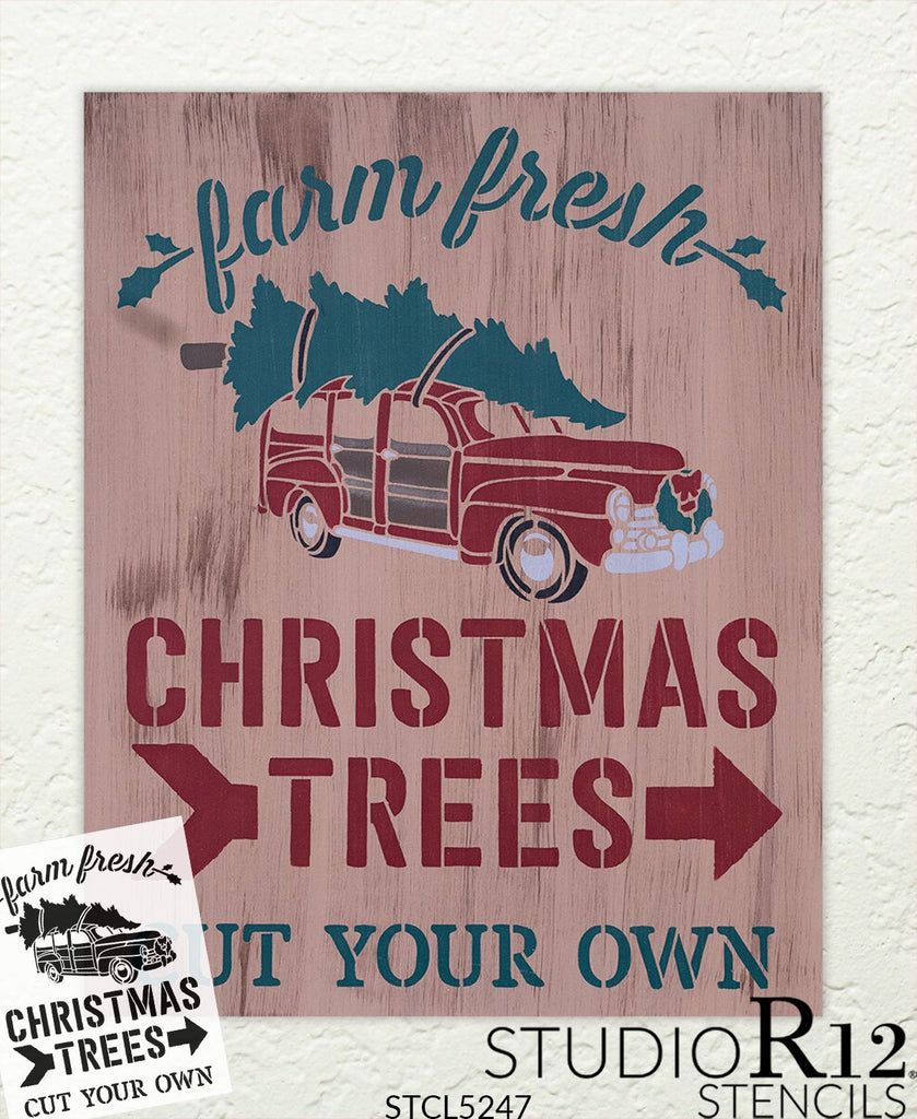 antique Truck,   			                 Christmas,   			                 Christmas & Winter,   			                 christmas tree,   			                 Christmas Trees,   			                 Country,   			                 farm fresh,   			                 Farmhouse,   			                 fir tree,   			                 Holiday,   			                 holidays,   			                 Home,   			                 Home Decor,   			                 old truck,   			                 stencil,   			                 Stencils,   			                 StudioR12,   			                 StudioR12 Stencil,   			                 Template,   			                 truck,   			                 Vintage,   			                 vintage truck,