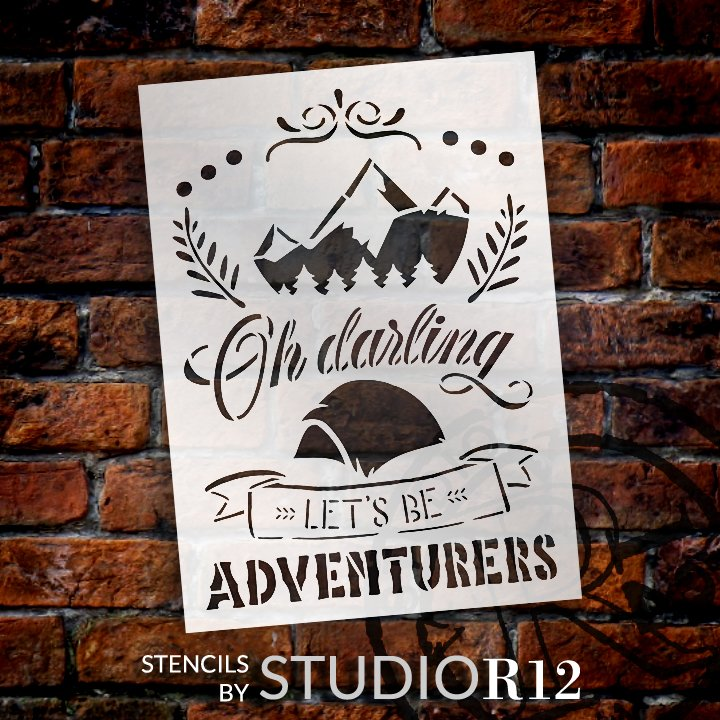Adventure,   			                 Camp,   			                 camp fire,   			                 camper,   			                 campfire,   			                 campground,   			                 Camping,   			                 Campsite,   			                 Country,   			                 Home,   			                 Home Decor,   			                 laurel,   			                 mountain,   			                 mountains,   			                 stencil,   			                 Stencils,   			                 StudioR12,   			                 StudioR12 Stencil,   			                 Template,   			                 tent,