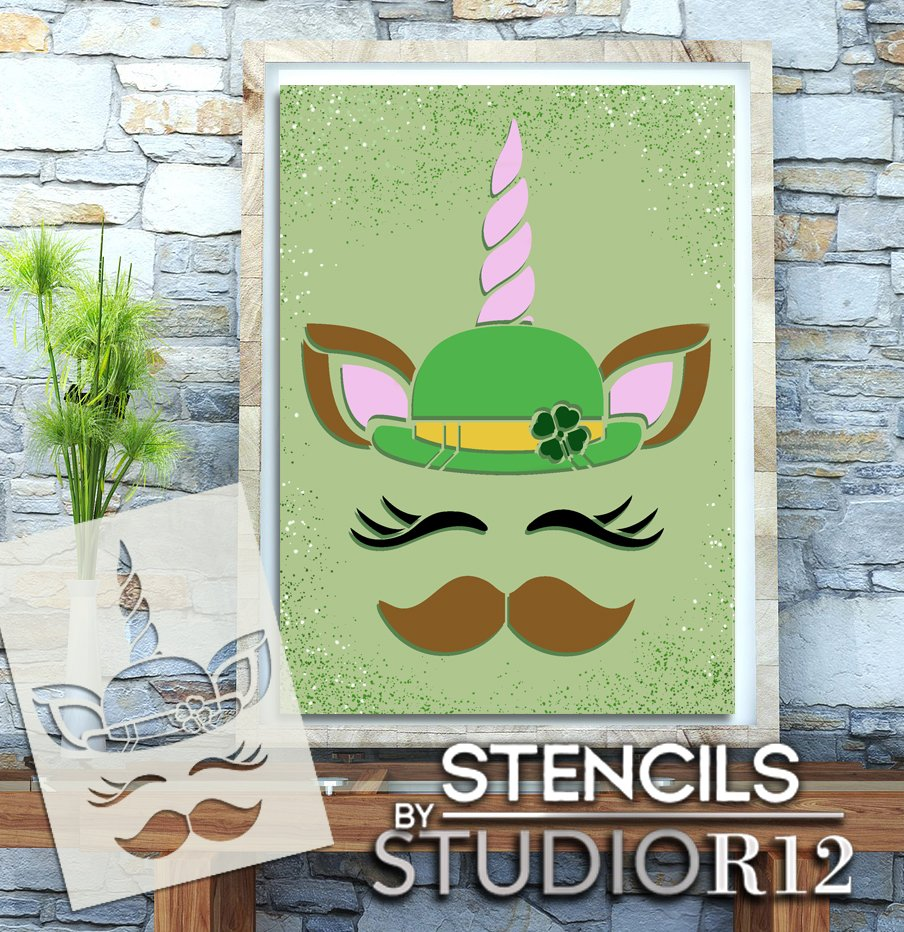 art,   			                 Art Stencil,   			                 Art Stencils,   			                 clover,   			                 diy,   			                 diy decor,   			                 diy wood sign,   			                 Holiday,   			                 Home,   			                 Home Decor,   			                 leprechaun,   			                 march,   			                 mustache,   			                 New Product,   			                 paint,   			                 paint wood sign,   			                 Saint Patrick's Day,   			                 shamrock,   			                 Spring,   			                 St Patrick,   			                 stencil,   			                 Stencils,   			                 Studio R 12,   			                 Studio R12,   			                 StudioR12,   			                 StudioR12 Stencil,   			                 Template,   			                 unicorn,   			                 wood sign,