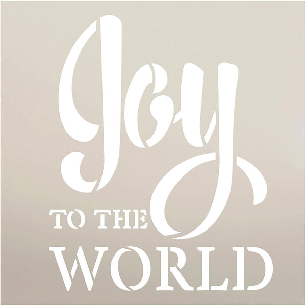 Joy to The World Stencil by StudioR12 | DIY Faith Christmas Carol Farmhouse Home Decor | Craft & Paint Wood Sign | Reusable Mylar Template Select Size