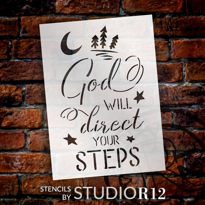 Craft,   			                 DIY,   			                 Faith,   			                 Home Decor,   			                 Inspirational,   			                 Paint,   			                 Religious,   			                 Reusable,   			                 Stencil,   			                 Studio,   			                 StudioR12,   			                 Wood Sign,