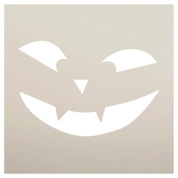 Vampire Jack-O-Lantern Stencil by StudioR12 | Craft & Paint DIY Halloween Decor | Fall Pumpkin Face Pattern Template | Select Size