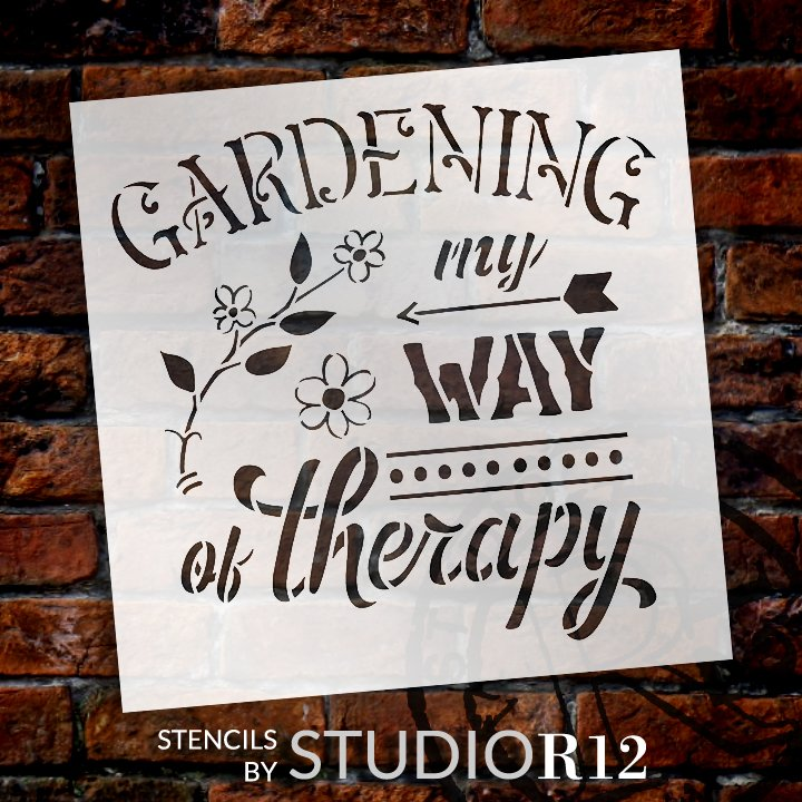 Arrow,   			                 Arrows,   			                 Cursive,   			                 cursive script,   			                 flower,   			                 flower garden,   			                 Flowers,   			                 Garden,   			                 garden tool,   			                 gardening,   			                 Outdoor,   			                 outside,   			                 reusable mylar template,   			                 Script,   			                 stencil,   			                 Stencils,   			                 Studio R12,   			                 StudioR12,   			                 StudioR12 Stencil,   			                 Template,   			                 template stencil,   			                 therapy,   			                 wood sign stencil,   			                 word stencil,