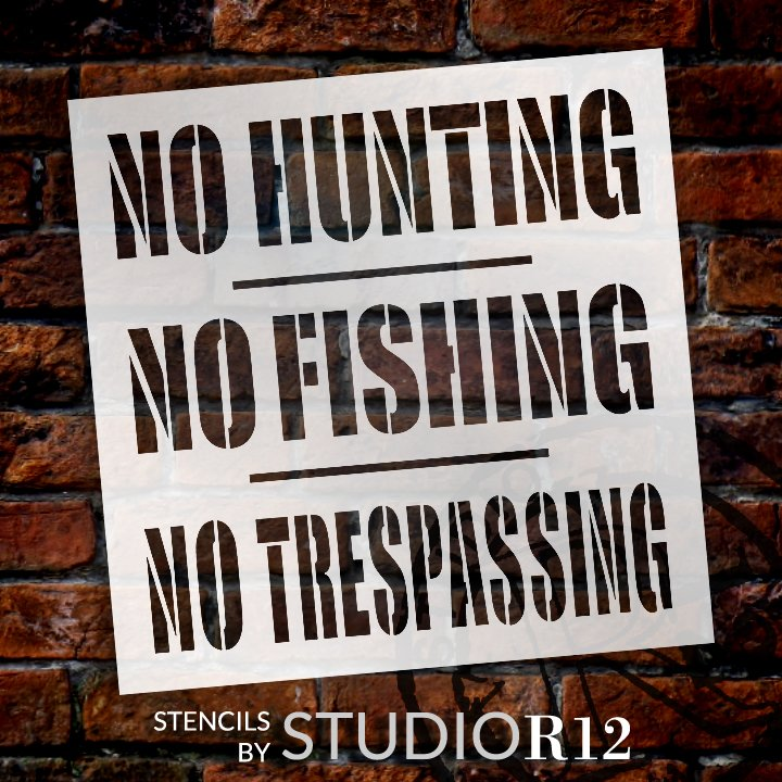 Craft,   			                 DIY,   			                 fish,   			                 Flexible Mylar,   			                 Game Trail,   			                 Home Decor,   			                 hunt,   			                 Outdoors,   			                 Paint,   			                 Regulations,   			                 Reusable template,   			                 Rules,   			                 Stencil,   			                 StudioR12,   			                 Wood Sign,