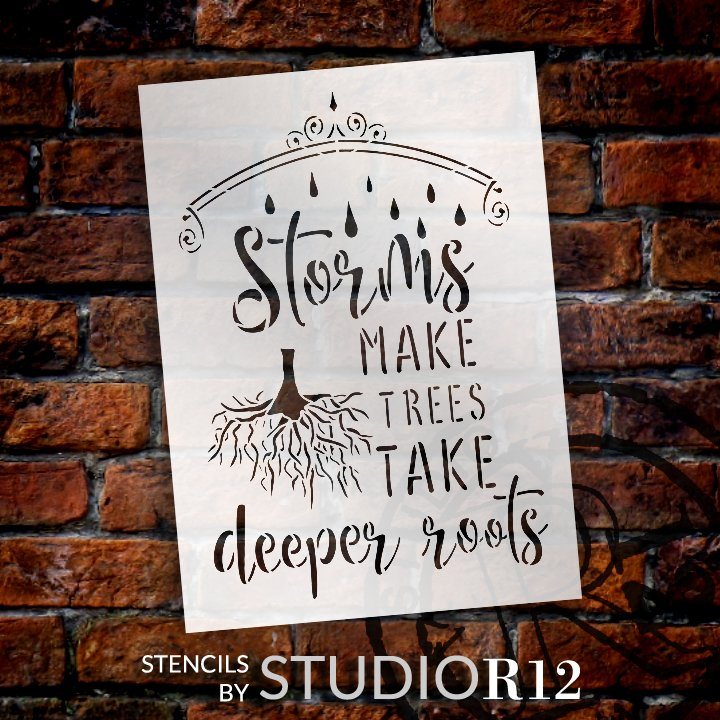 Craft,   			                 DIY,   			                 Faith,   			                 Family,   			                 Flexible Mylar,   			                 Home decor,   			                 Inspiration,   			                 Paint,   			                 Reusable template,   			                 Stencil,   			                 Storm,   			                 Strength,   			                 StudioR12,   			                 Wood Sign,