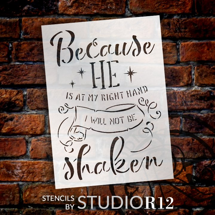Craft,   			                 DIY,   			                 Flexible Stencil,   			                 Home Decor,   			                 Inspiraitonal,   			                 Journey,   			                 Mylar,   			                 Paint,   			                 Religious,   			                 Reusable Template,   			                 Stencil,   			                 StudioR12,   			                 Wood Sign,