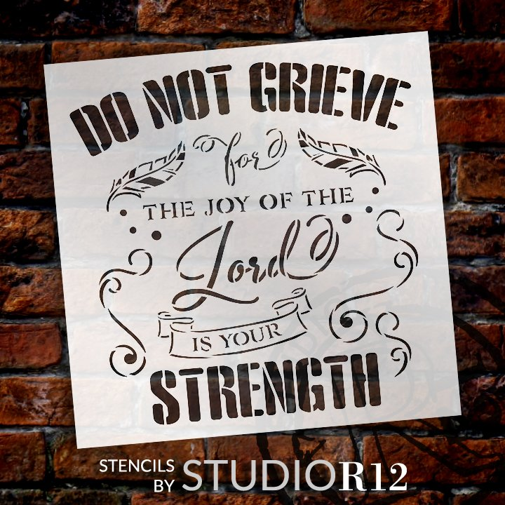 Craft,   			                 DIY,   			                 Faith,   			                 Home Decor,   			                 Inspiration,   			                 Paint,   			                 Religious,   			                 Reusable Template,   			                 Stencil,   			                 Strength,   			                 StudioR12,   			                 Wood Sign,