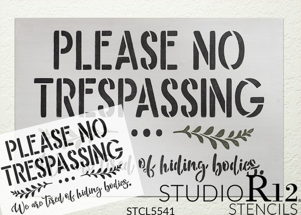 Cursive,   			                 cursive script,   			                 door mat,   			                 doormat,   			                 Farmhouse,   			                 Home,   			                 Home Decor,   			                 script,   			                 stencil,   			                 Stencils,   			                 StudioR12,   			                 StudioR12 Stencil,   			                 Template,   			                 trespass,   			                 trespasser,   			                 warning,   			                 Welcome,