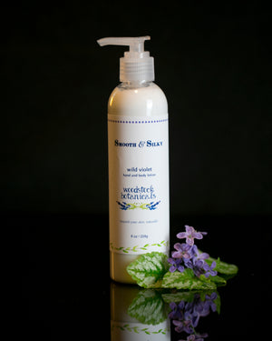 wild violet smooth and silky lotion
