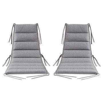 Gray Lounge Chair Cushions (2pk) Patio Furniture by Dwell