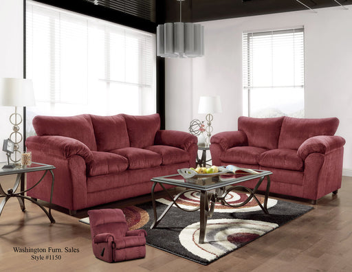 Kelly Burgundy Sofa And Love Seat Set
