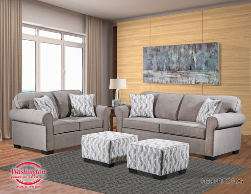 Fritz Fog Sofa And Loveseat Set
