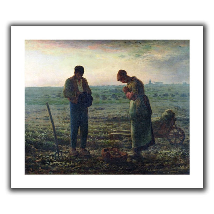 The Angelus' Painting Print on Rolled Canvas