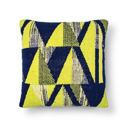 "Threshold Abstract Triangle Pillow 24""x24"""