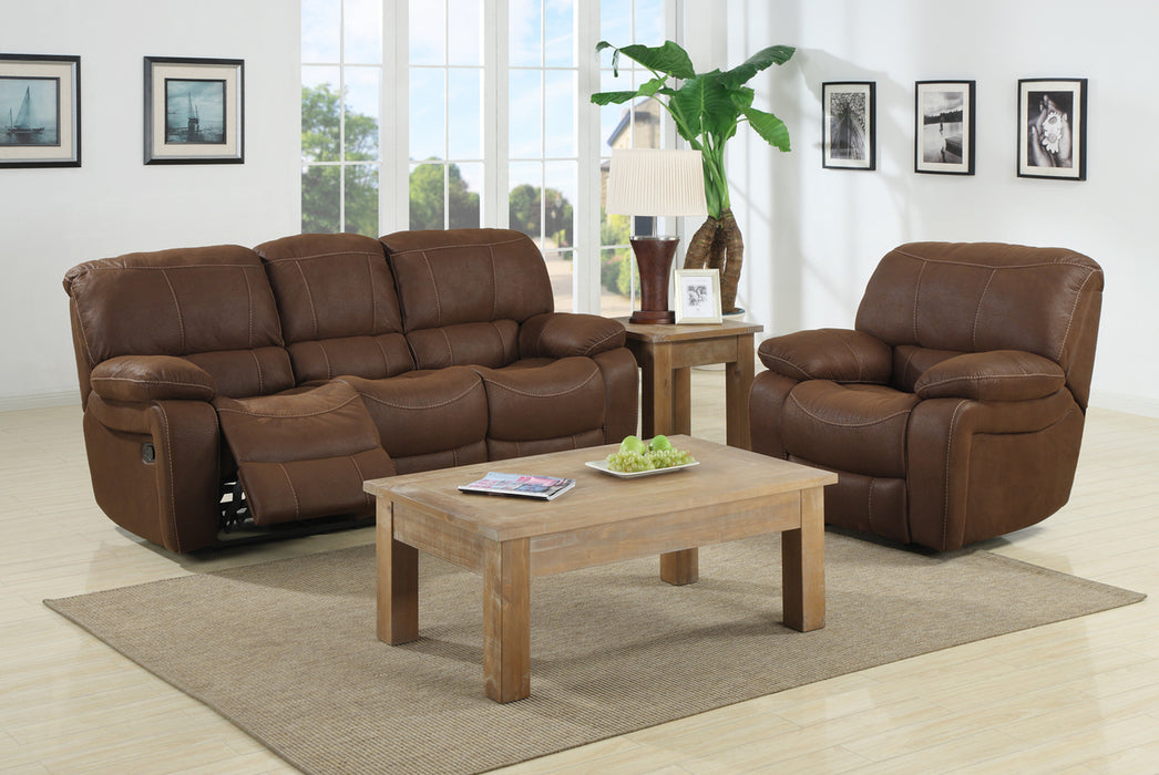 Sierra Reclining Sofa Set, Palomino - @ARFurnitureMart
