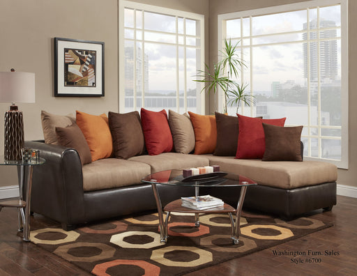 Victory Lane Taupe/Trapper Brown Sectional - @ARFurnitureMart