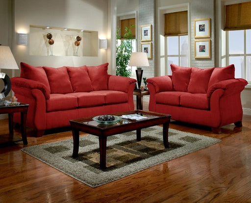 Sensations Red Brick Sofa - @ARFurnitureMart