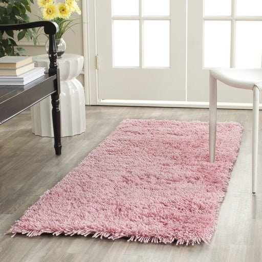 "Safavieh Classic Shag Collection SG240P Handmade Pink Runner (2'3"" x 8') - @ARFurnitureMart"