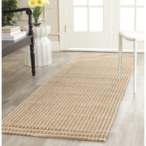 Safavieh Natural Fiber Collection NF449A St Lucia Loop Ivory and Beige Sisal Area Rug - @ARFurnitureMart