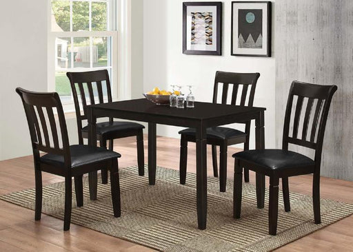 Espresso Dining Set with Table and 4 Chairs - @ARFurnitureMart
