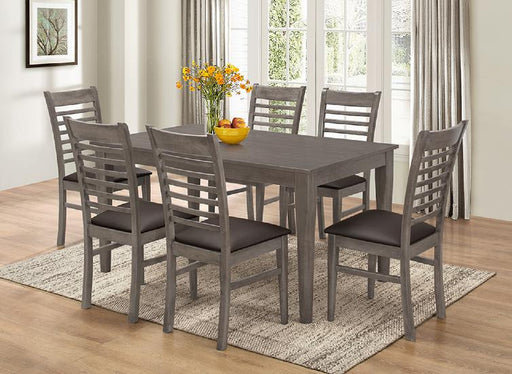 Weathered Gray Dining Table and Chairs - @ARFurnitureMart