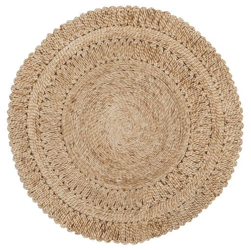 Safavieh Natural Fiber Collection NF356A Hand-Woven Natural Jute Round Area Rug (3' in Diameter) - @ARFurnitureMart