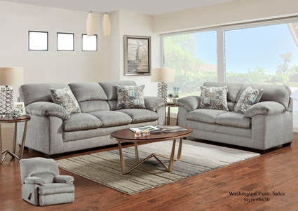 Stormy Gray Sofa And Loveseat Set