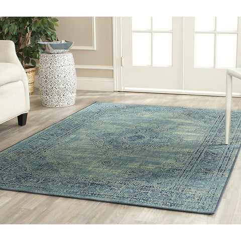 Safavieh Vintage Premium Collection VTG112-110 Transitional Oriental Light Blue Distressed Silky Viscose Area Rug (10' x 14')
