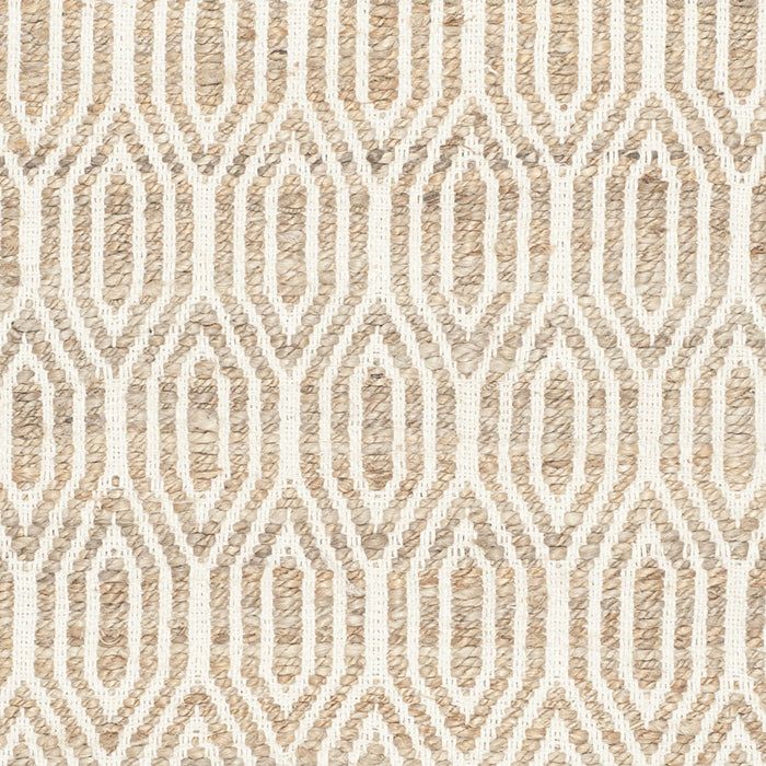 Safavieh Cape Cod Collection CAP822I Hand Woven Geometric Natural Jute and Cotton Area Rug (3' x 5') - @ARFurnitureMart