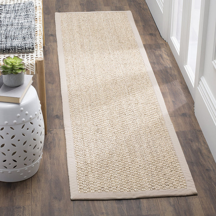 Safavieh Natural Fiber Collection NF525A Cream Sisal Area Rug - @ARFurnitureMart