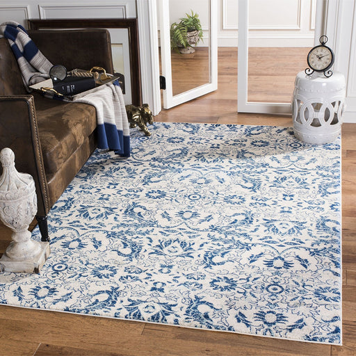 Safavieh Evoke Collection EVK238C Contemporary Ivory and Blue Area Rug - @ARFurnitureMart