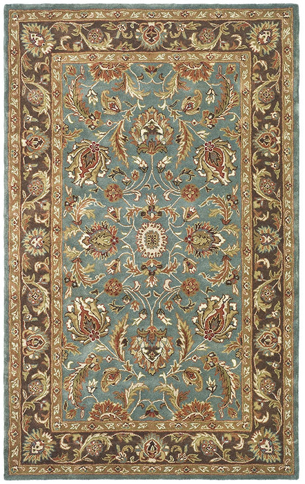 Safavieh Heritage Collection HG812A Handmade Traditional Oriental Brown and Blue Wool Area Rug - @ARFurnitureMart