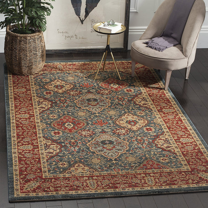 Safavieh Mahal Collection MAH655C Navy and Red Area Rug - @ARFurnitureMart