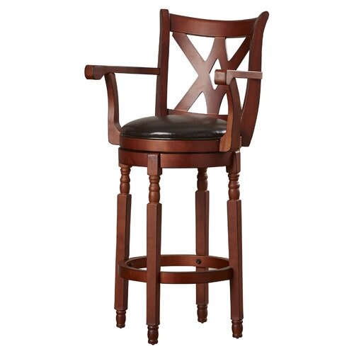 "Attica 30.5"" Swivel Bar Stool Finish: Brown"