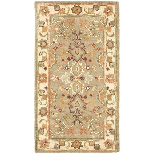 Cranmore Tufted Wool Light Green/Beige Area Rug 6' x 9'